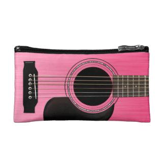 Pink Acoustic Guitar Cosmetic Bag