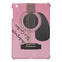 Pink Acoustic Guitar Custom Autograph Cover For The iPad Mini