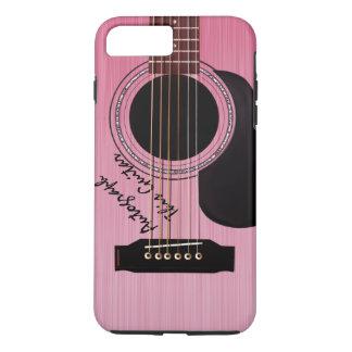 Pink Acoustic Guitar Custom Autograph iPhone 7 Plus Case