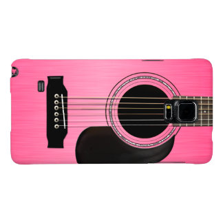 Pink Acoustic Guitar Galaxy Note 4 Case