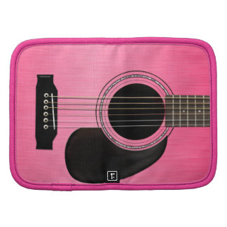 Pink Acoustic Guitar Folio Planners