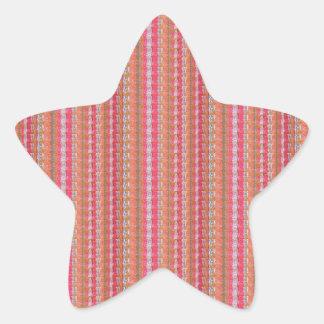 Pink Acrylic Texture Blank Template add TEXT PHOTO Star Sticker