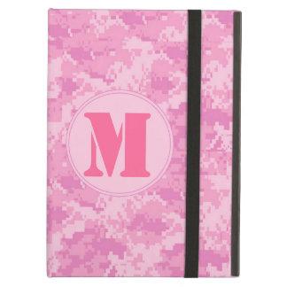 Pink ACU Camo Camouflag Monogram Initial IPAD Case