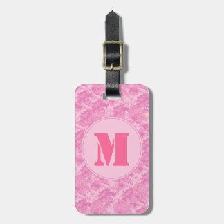 Pink ACU Camo Camouflage Girl Monogram Luggage Tag