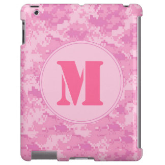 Pink ACU Camo Camouflage Girly Monogram IPAD Case