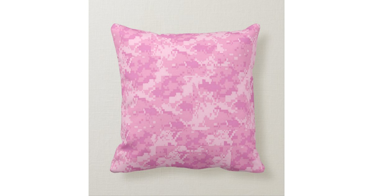 Camo Couch Throw Pillows : Pink ACU Camo Camouflage Girly Throw Couch Pillow Zazzle