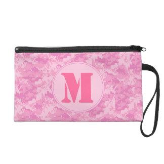 Pink ACU Camo Camouflage Make Up Bag Tote Purse Wristlets