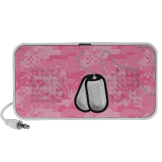 Pink ACU Camo with Dog Tags Speakers