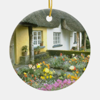 Pink Adare, Limerick flowers Christmas Tree Ornaments