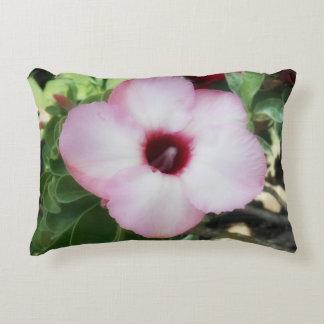 Pink Adenium Boehmianum Decorative Pillow