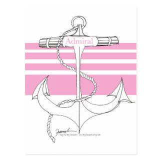 pink admiral, tony fernandes postcard