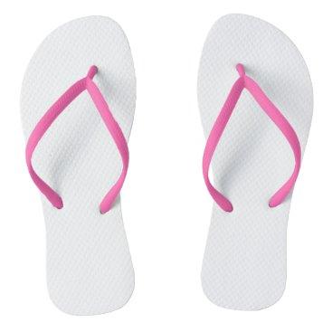 Beach Themed Pink Adult Flip Flops, Slim Straps Flip Flops