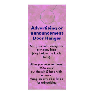 PINK Advertising DOOR HANGER promotion tags Rack Cards