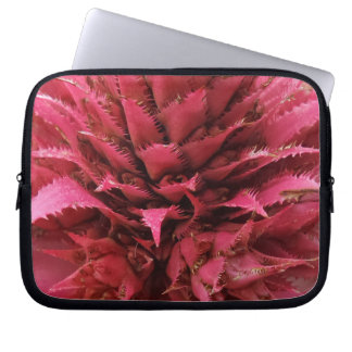 Pink Aechmea Flower Neoprene Laptop Sleeve 10 inch