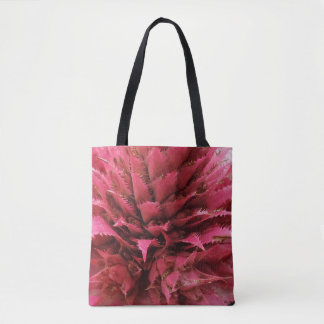 Pink Aechmea  Flower Tote Bag