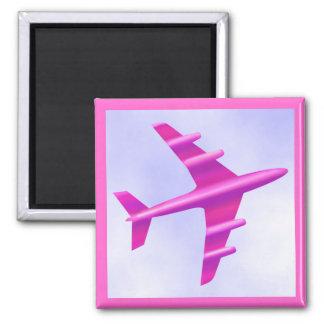 Pink Aeroplane Magnet