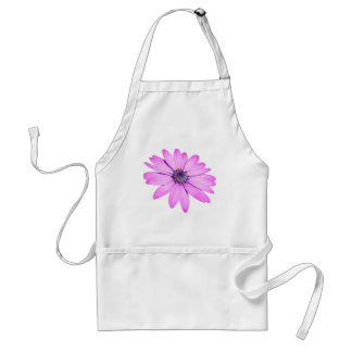 Pink Afrıcan Daisy With Transparent Background Adult Apron
