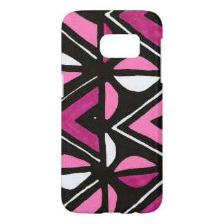 Pink African Mudcloth Tribal Print Samsung Galaxy S7 Case