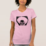 Pink Afro Natural Headed Girl Tshirts