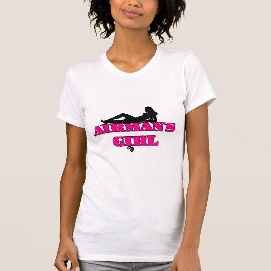 Pink Airmans Girl Silhouette T-Shirt