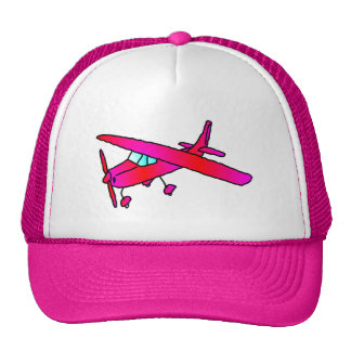 Pink airplane aircraft plane cap caps trucker hat