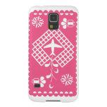 Pink airplane traveling festival phone case funda de galaxy s5
