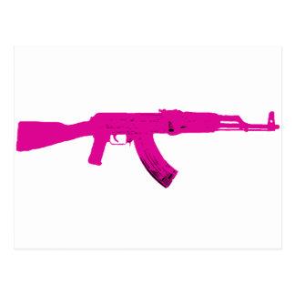 Pink AK-47 Postcard