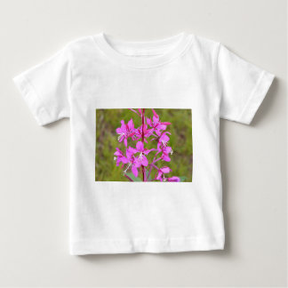 Pink Alaskan Fireweed flowers in bloom T-shirts
