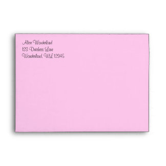 Pink Alice in Wonderland Envelope