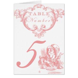 Pink Alice in Wonderland Wedding Invitations