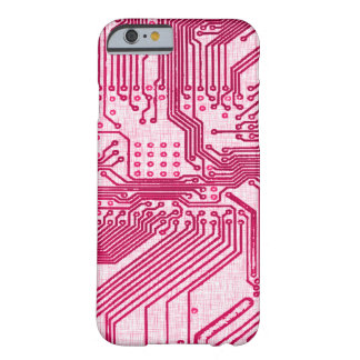 Pink Alien Grunge Circuit Board Design Barely There iPhone 6 Case