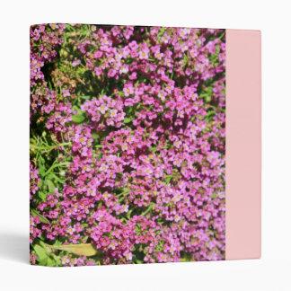 Pink Allyssum Flowers Binder