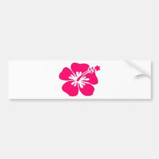 pink aloha flower bumper stickers