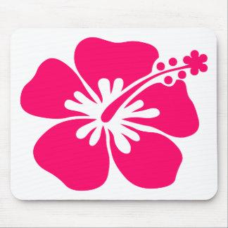 pink aloha flower mouse pad