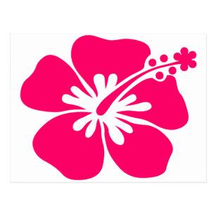 pink aloha flower postcards zazzle