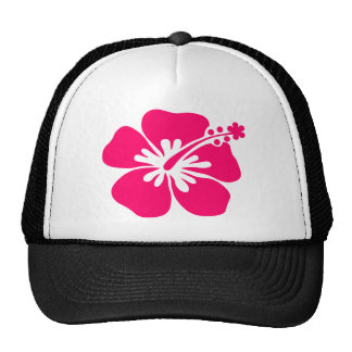 pink aloha flower trucker hat