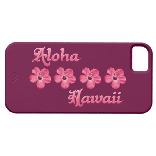 Pink Aloha Hawaii iPhone 5 Case