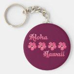 Pink Aloha Hawaii Keychain