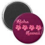 Pink Aloha Hawaii Magnet
