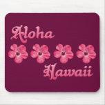 Pink Aloha Hawaii Mouse Pads