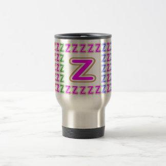Pink ALPHABET Z ZZ ZZZ Coffee Mugs