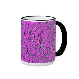 Pink Aluminum Foil Ringer Coffee Mug