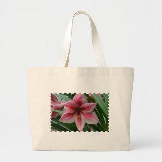 Pink Amaryllis Large Tote Bag