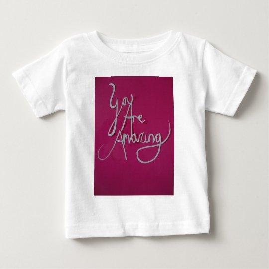 pink amazing paper cut white baby T-Shirt