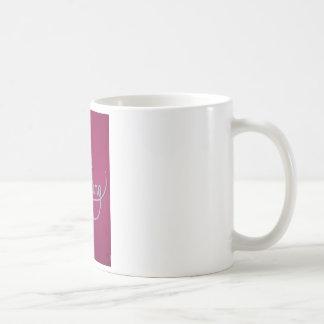 pink amazing paper cut white coffee mug