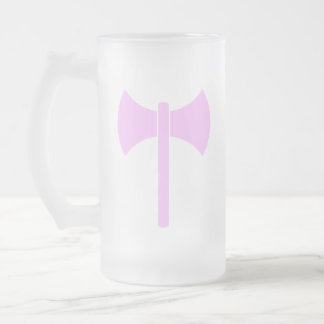 Pink Amazon Symbol Frosted Glass Beer Mug