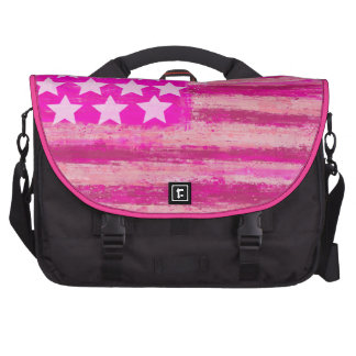 pink american flag,united states, bags for laptop