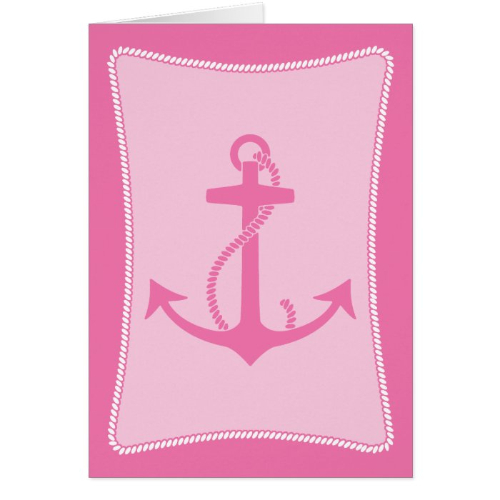 Pink Anchor Card