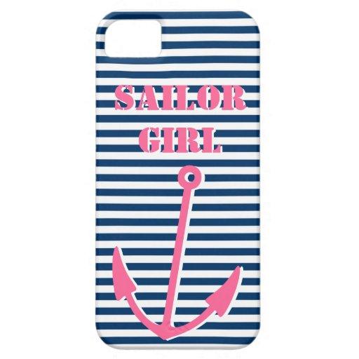 Pink anchor iPhone 5 case | Sailor girl