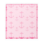 Pink Anchor Pattern Memo Note Pad